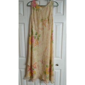 Studio One Dress Size 16 Womans Floral Chiffon Lay